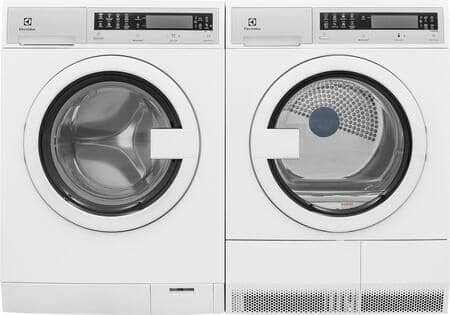 """Electrolux Front Load Compact EFLS210TIW 24"""" Washer with EFDE210TIW 24"""" Electric Dryer Laundry Pair in White $1586 + Free Shipping"""