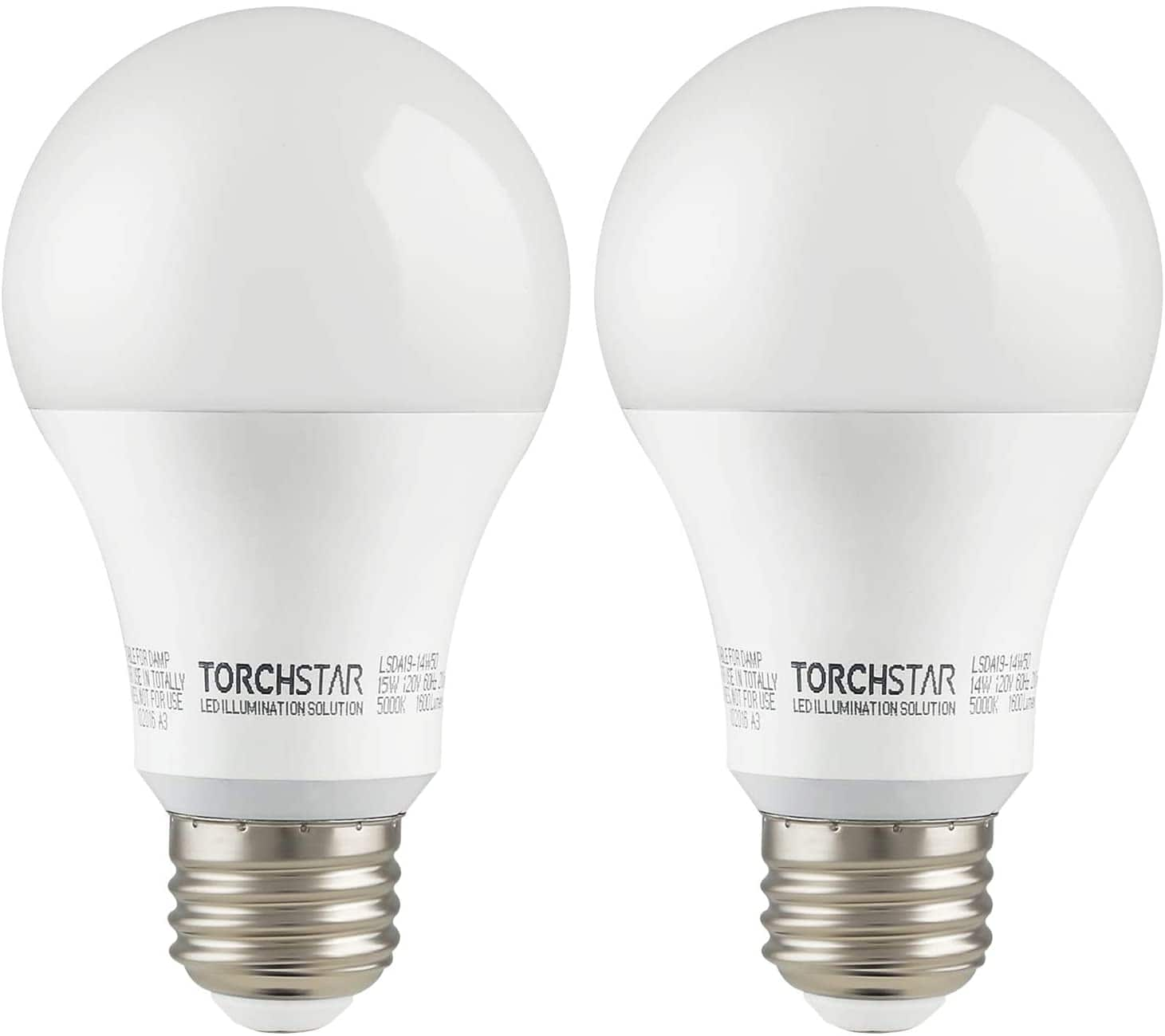2 Pack/4 Pack 100W Equiv Super Bright Garage Opener A19 LED Bulb Daylight/Warm White- $13.46 + FS