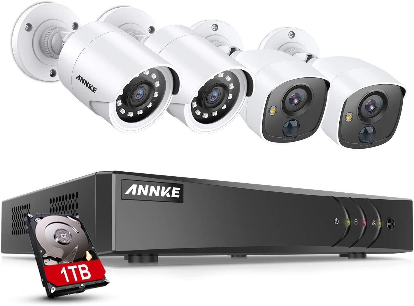 ANNKE 8CH 5MP Lite Surveillance 2 Camera Security System + 1TB Hard Drive $144.99 + FS
