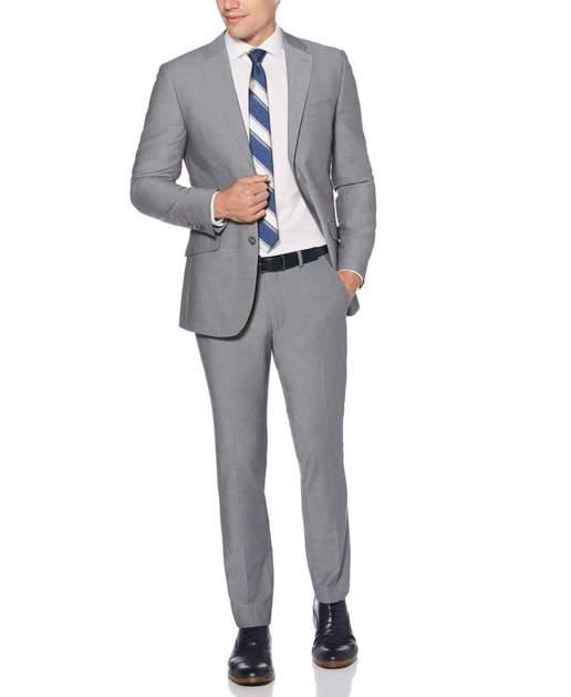 PerryEllis.com has Very Slim Fit Gray Suit for $49.98