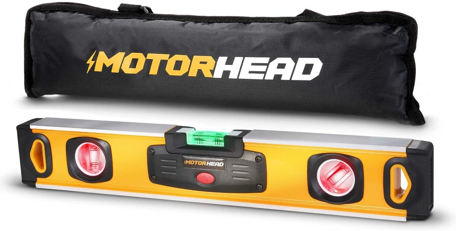 "MOTORHEAD Smart LED Digital Torpedo Bubble Levels (12"", 16"" & 24"" Sizes) w/ Batteries, Case Included $14.99-$24.99 + Free Shipping"
