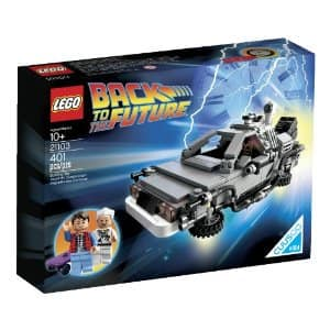 LEGO Back to the Future 21103 The DeLorean Time Machine Building Set now available on Amazon.com. LEGO.com, and LEGO stores for $34.99