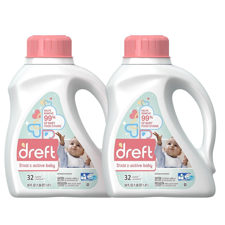 2 Pack 50 oz Dreft Stage 2: Active Hypoallergenic Liquid Baby Laundry Detergent (HE) $15.35 @ Amazon FS w/S&S