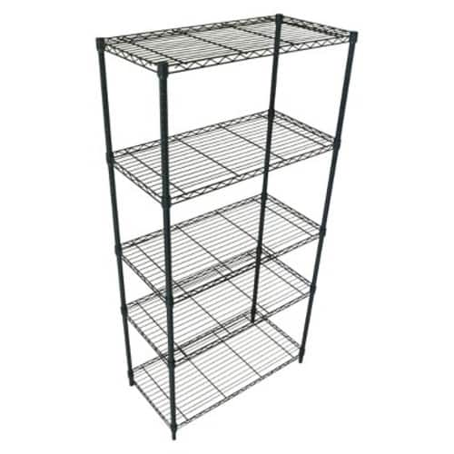 "Target Adjustable 5-Tier Wire Shelving Unit - Chrome - Room Essentials 72 H x 36 W x 18 D for $39 and 48"" W one for $50"