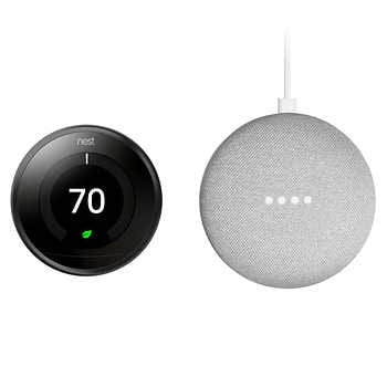 Nest Thermostat 3rd Generation and Google Mini Bundle $199.99 after $40 Off