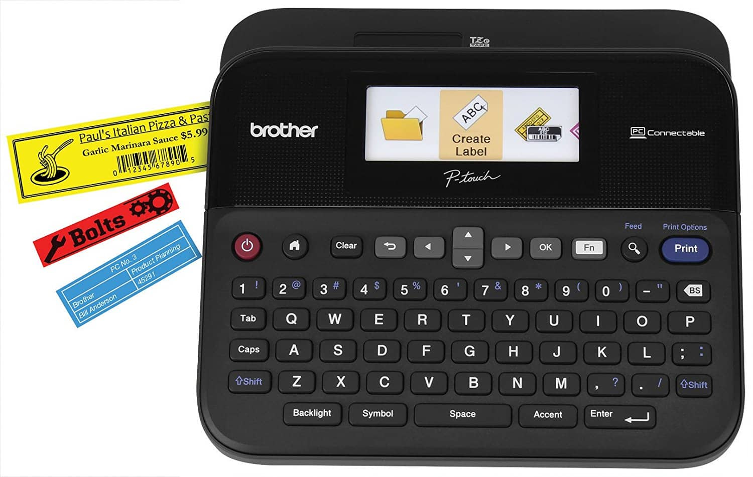 $50 Brother P-touch PTD600 Label Maker PC Connectible with Color Display