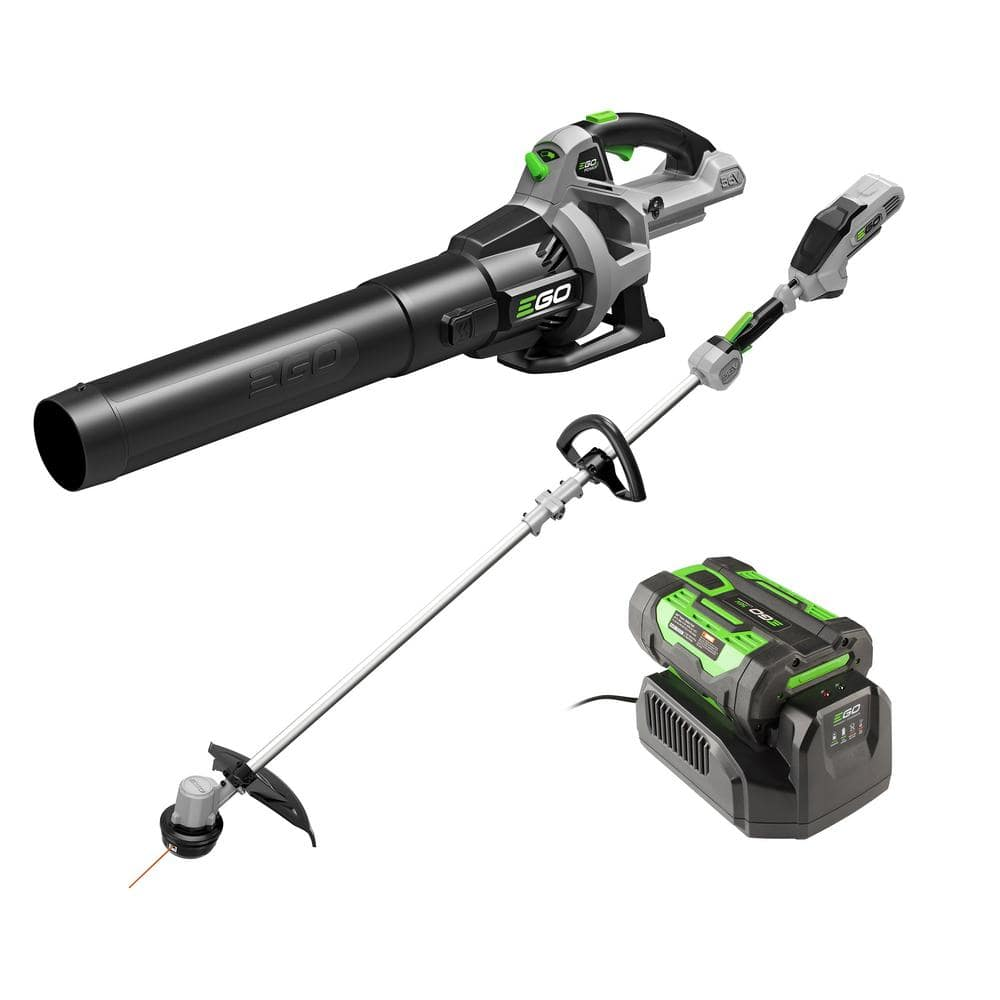 YMMV - Ego 56V Lithium-Ion Cordless Electric 15 in. String Trimmer 30 CFM Blower Combo Kit, 2.5 Ah Battery and Charger Included $199