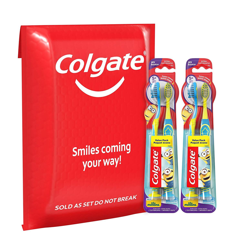 Colgate Kids toothbrushes 4 pk $7.5