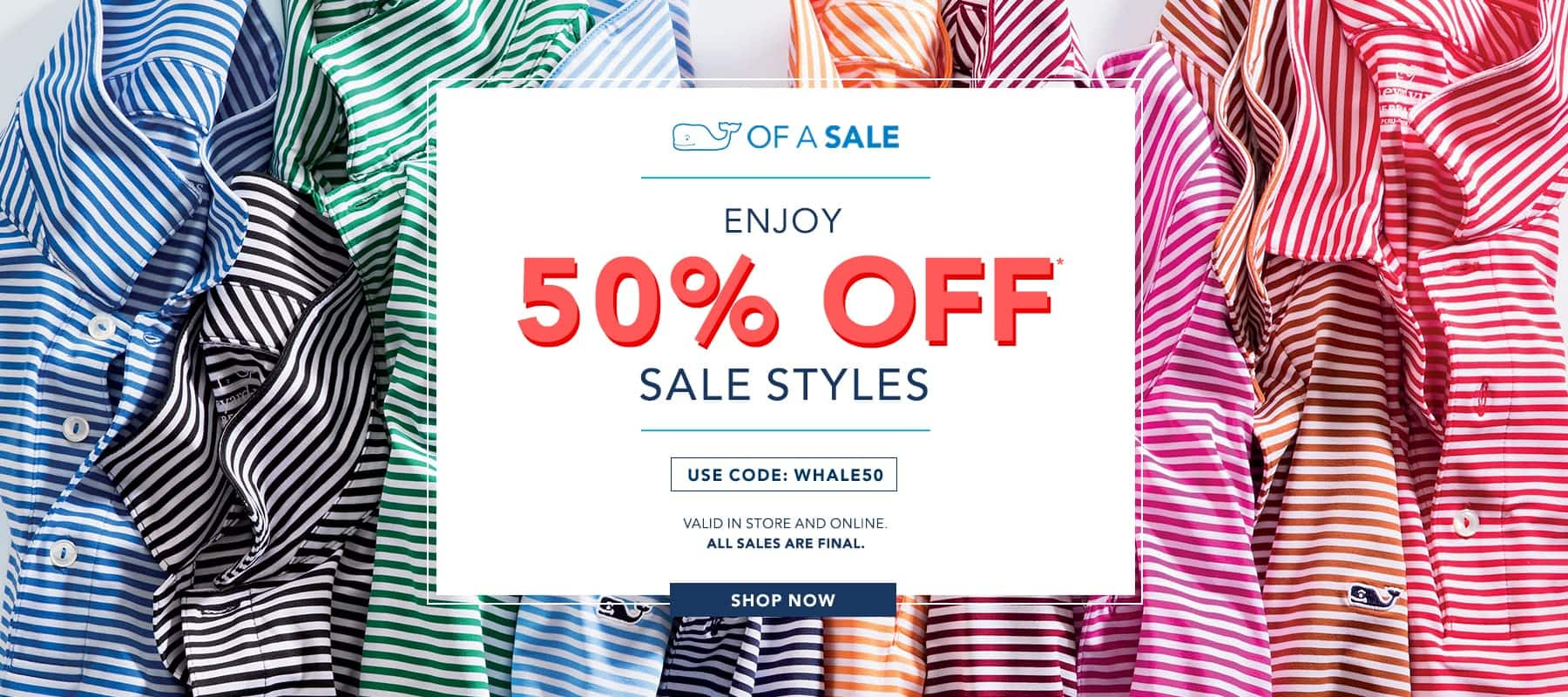 Vineyard Vines 50% Off All Sale Styles Online + Store