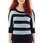by&by 3/4-Sleeve Striped Sweater $17.99 + ship @jcpenney.com