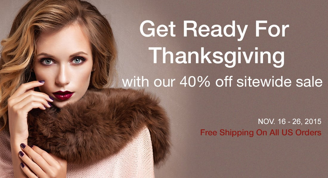 Thanksgiving Day Sale - 40% Off Sitewide + EXTRA 15% w/Code Free Shipping | Abhair