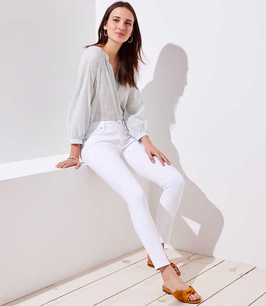 Skinny Jeans in White $12.88