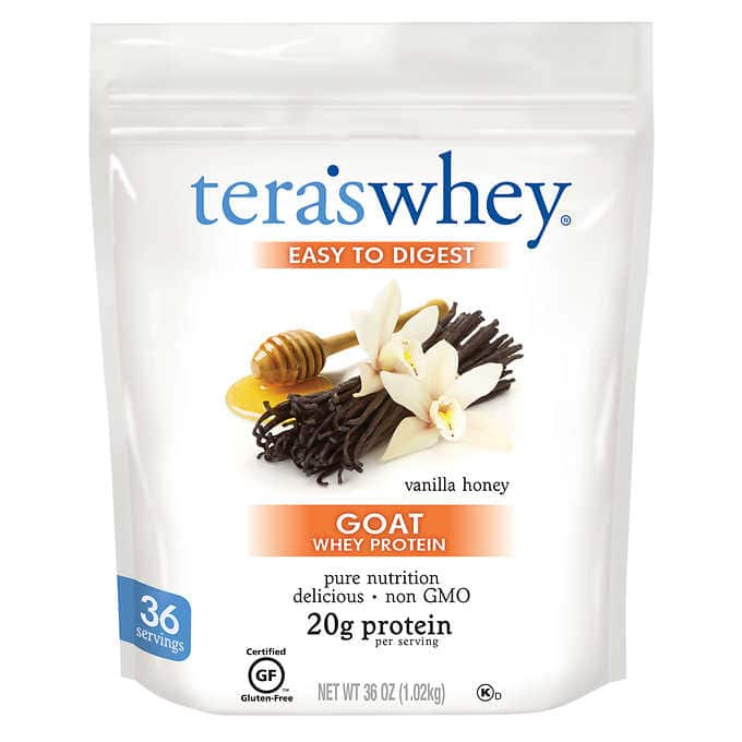 Tera's Whey Goat Whey Protein, 36 oz. (Honey Vanilla) @ Costco.com $19.97