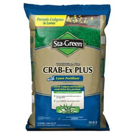 Lowes Ymmv Sta Green Crabgr Fertilizer 5000 Sq Ft 11 08