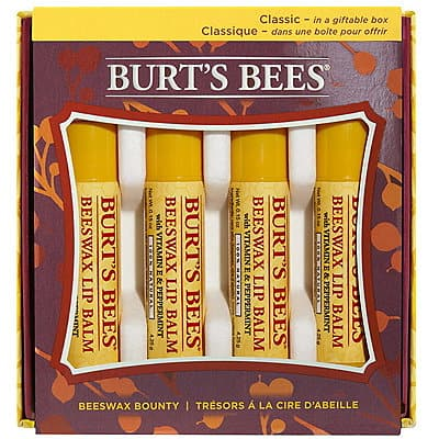 4-pack Burt's Bees Lip Balm $5 online or $3.25 in store at Ulta
