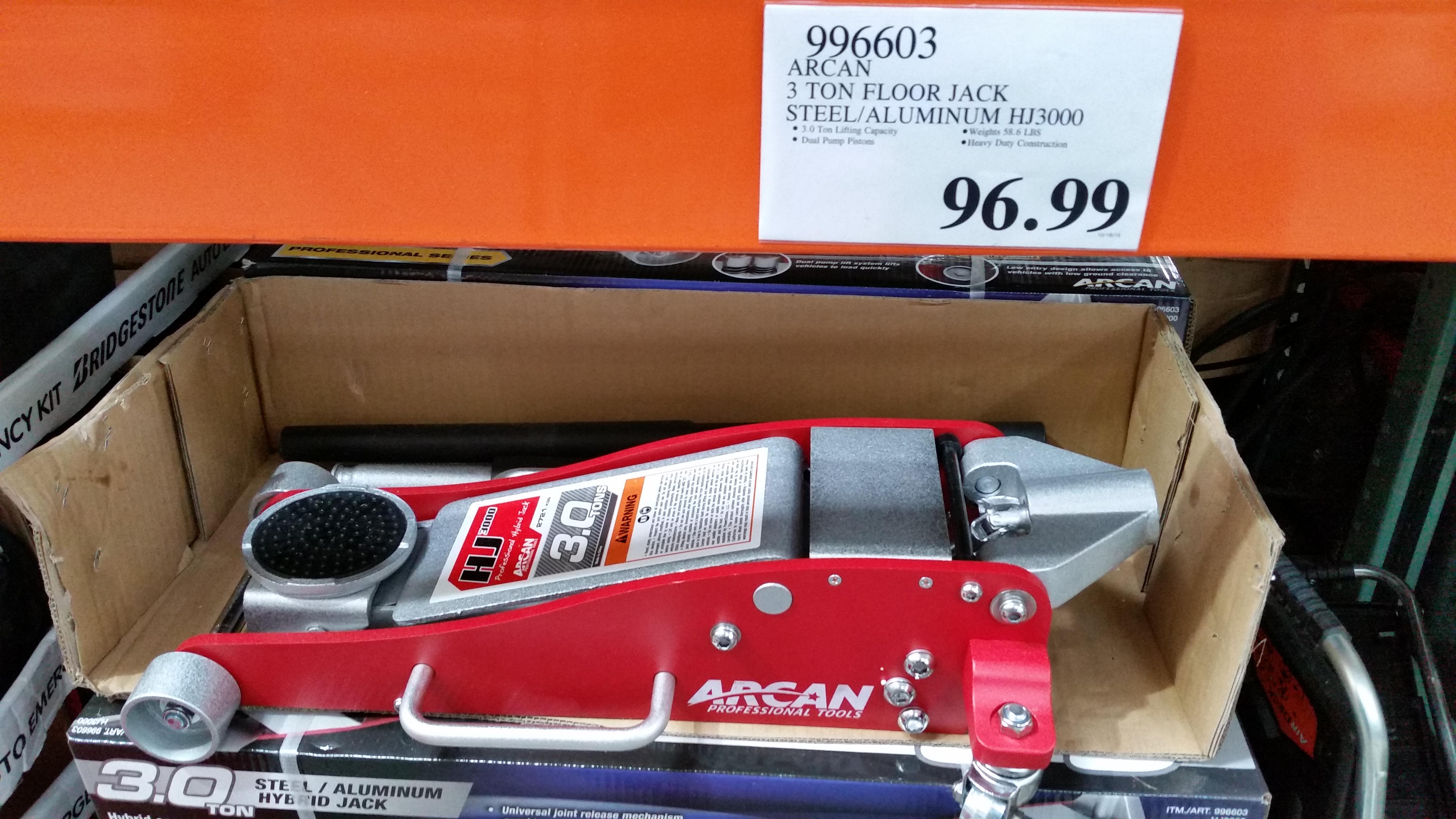 Arcan, 3 Ton Floor Jack Steel/Aluminum HJ3000 $96.99 @Costco    Slickdeals.net