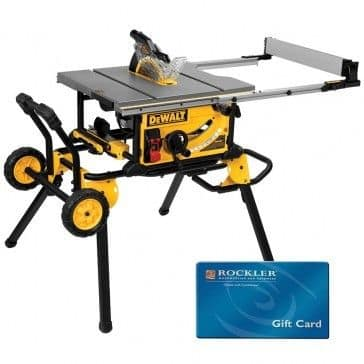 DeWalt DWE7491RS 10'' Jobsite Table Saw with Rolling Stand With Free $200 Gift Card at rockler.com $599 (effectively $399) +S/H