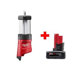Milwaukee M12 12-Volt Lithium-Ion Cordless LED Lantern with Free M12 XC Battery Pack 3.0Ah $59