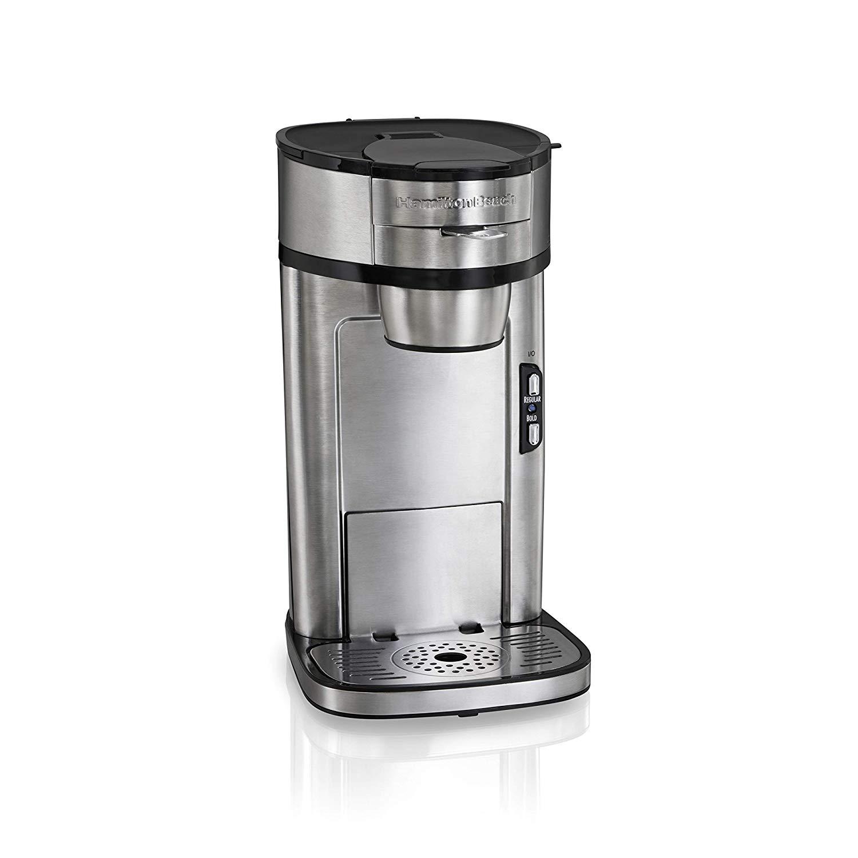 Hamilton Beach Scoop Single Serve Coffee Maker, Fast Brewing, Stainless Steel - $29.99
