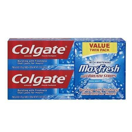 Colgate Max Fresh Toothpaste 6oz, Twin Pack - $2.25 or $2.14 w Target Card @ Target