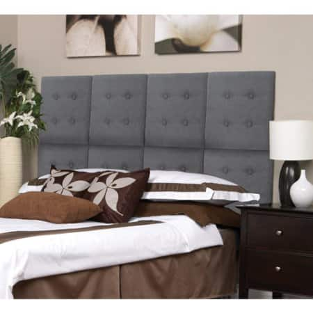 "Walmart: Set of 8 Luxe Upholstered 18"" x 18"" Headboard Wall Panels for F/Q Bed $50"