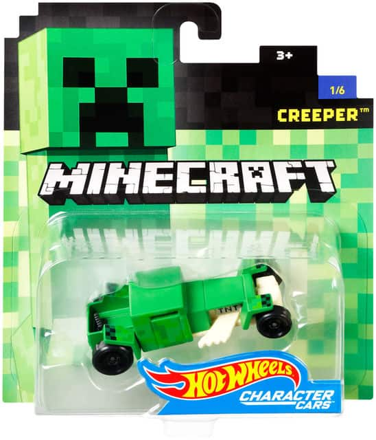 Hot Wheels Minecraft 1:64 Scale Character Cars in stock at Toys R Us $3.99