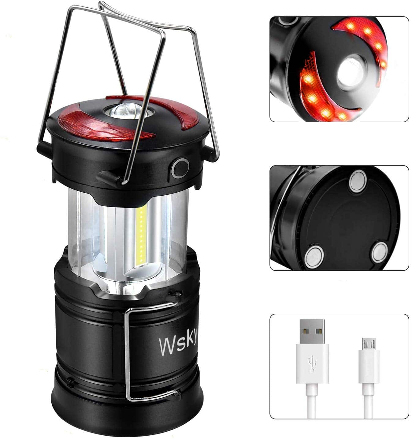 Led Camping Lantern - Best Rechargeable LED Flashlight Lantern for $11.19+FS