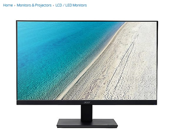 Acer 27in 1440p 4ms 75hz ips monitor with built in speakers $168.08