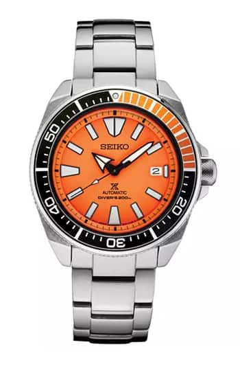 Seiko Prospex on sale - Orange one with coupon: DEALS $240
