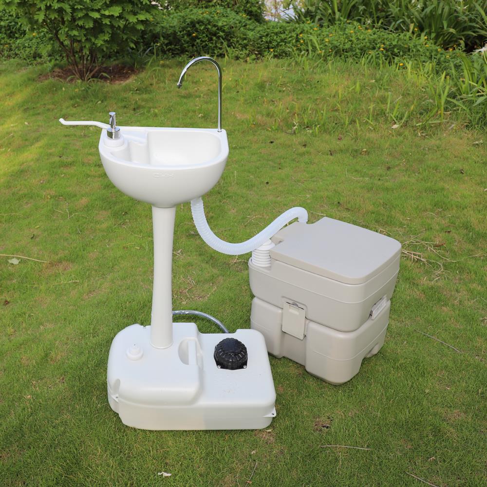 Ktaxon Upgraded 10L Sink and 20L Toilet Combo (Walmart online F/S) $130