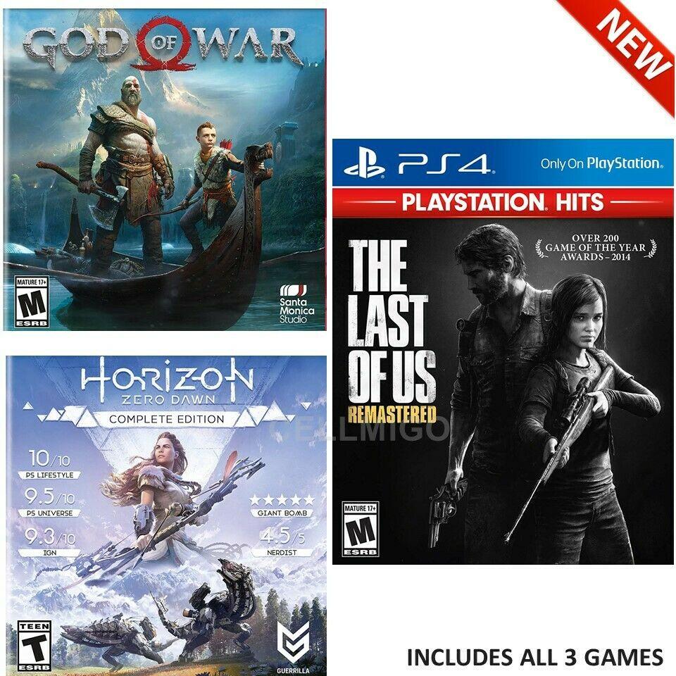 PS4 Only On, Games Bundle: Last Of Us Remastered, God of War, Horizon Zero Dawn @walmart.com $17.97