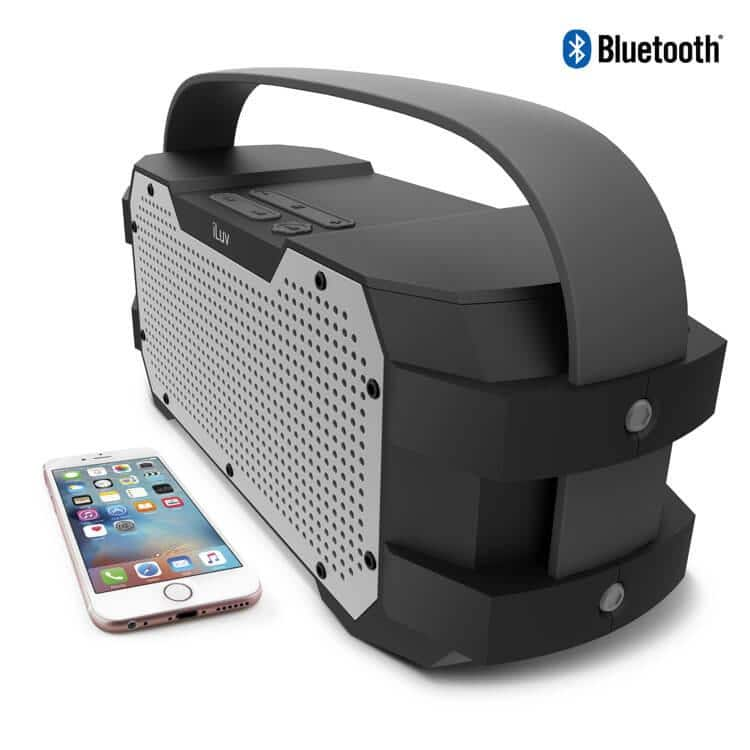 iLuv Impact Level 3 Water Resistant 2.1 Channel Bluetooth Boombox $22.59