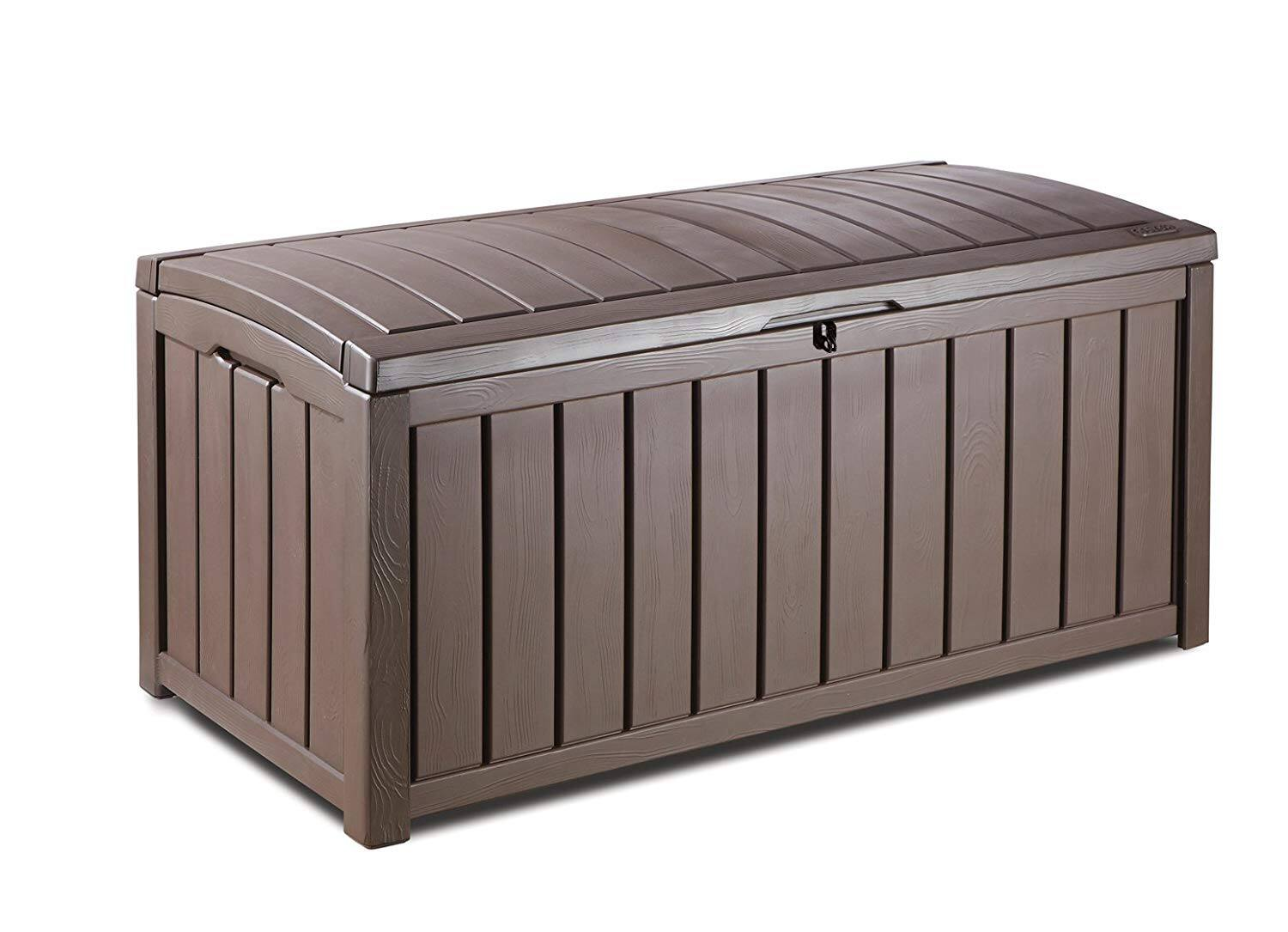 Amazon.com has 101 Gal. Keter Glenwood Plastic Outdoor Storage Box (Brown) for $69.74. Shipping is free.