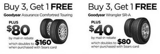 Goodyear Tires Buy 3 1free 40 Off 160 Rebate Free Shipping