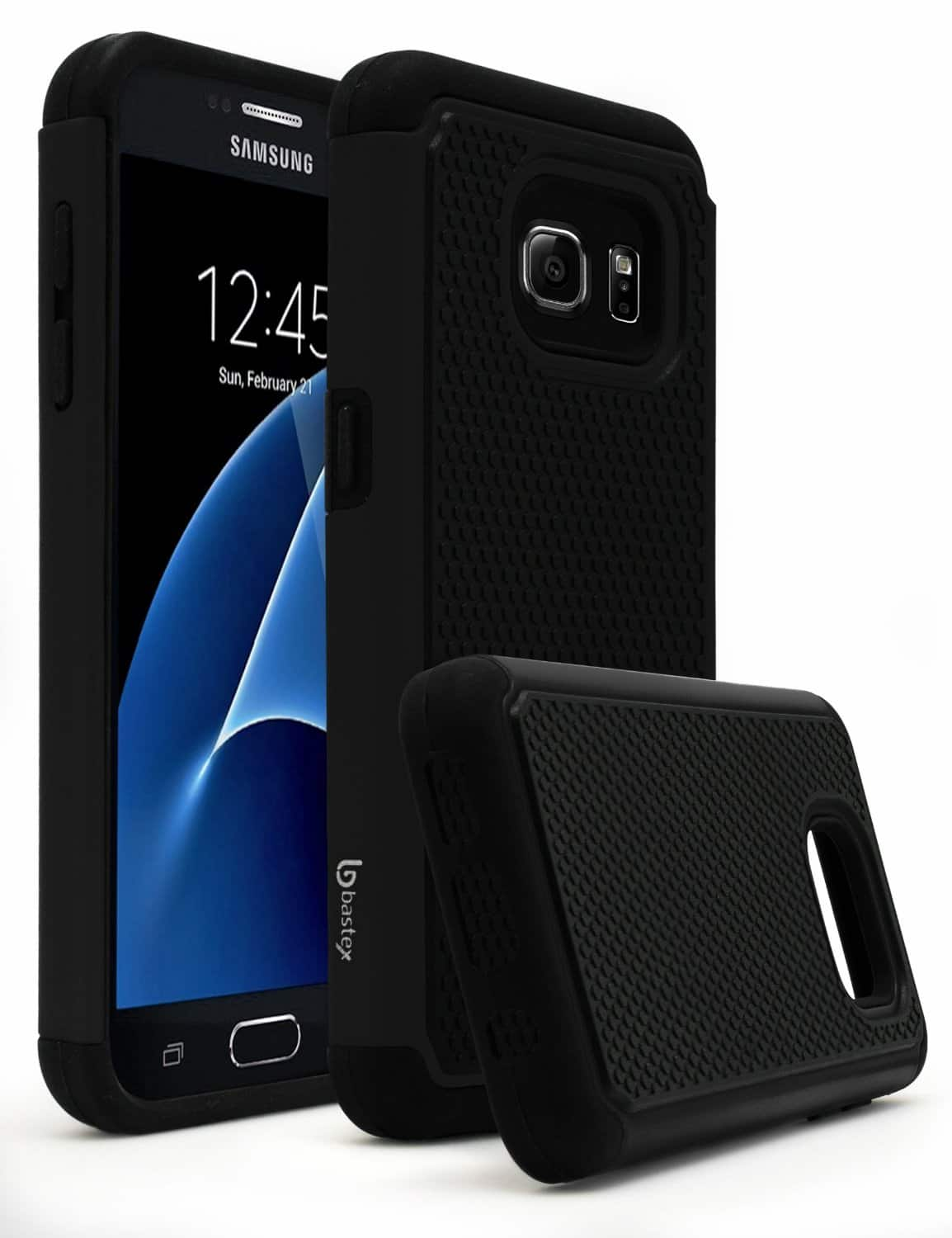 Dual Shock Rubber Silicone Cover with Hard Protective Case for Samsung Galaxy S7: $1 AC (all colors)