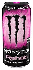 BACK IN STOCK: 24-Pack 15.5oz Monster Rehab (Tea + Pink Lemonade + Energy) $11 w/ S&S + Free S&H