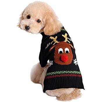 Moolecole Puppy Dog Christmas Knitted Sweater from $7.43-$9.91+FS @Amazon