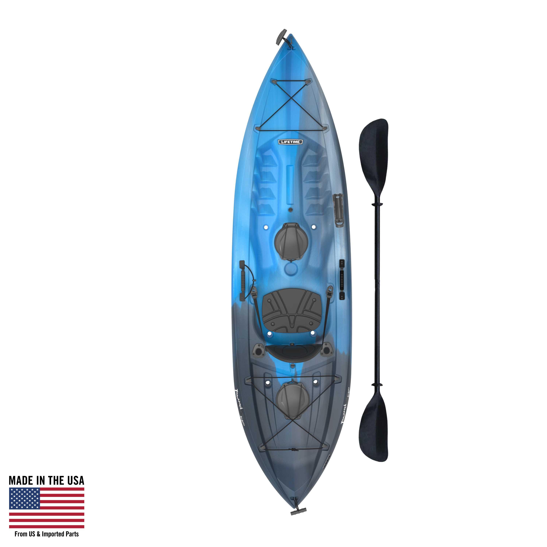 Lifetime Tamarack 100 Angler Kayak  (Paddle Included): Blue, Green or Tan $229