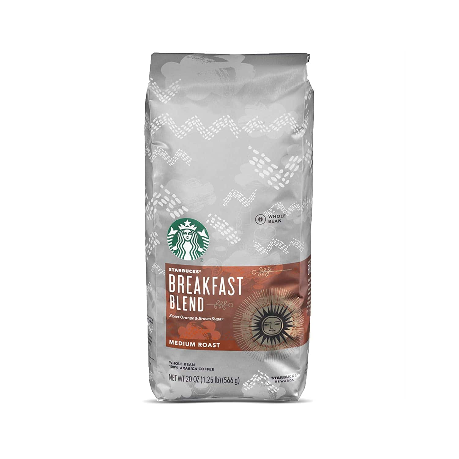 Amazon: Starbucks Breakfast Blend Medium Roast Whole Bean Coffee, 20 Ounce (Pack of 1) $5.00 + FREE Shipping on orders over $25
