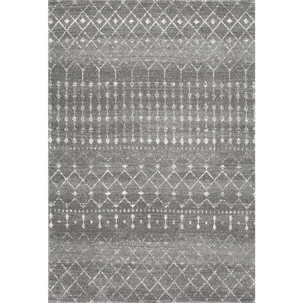 Blythe Modern Moroccan Trellis Dark Gray 10 ft. x 13 ft. Area Rug