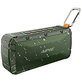 APIE Portable Wireless Outdoor Bluetooth Speaker IPX6 Waterproof Dual 10W , Enhanced Bass, Built in Mic,water Resistant $25.87