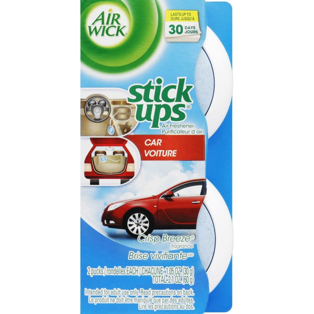 Air Wick Stick Ups Car Air Freshener, Crisp Breeze, 2ct 75¢
