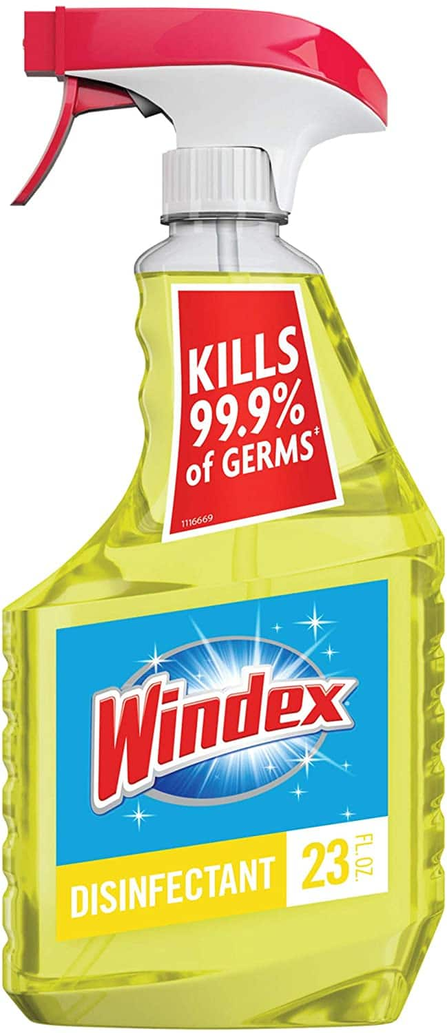 Windex Multi-Surface Cleaner and Disinfectant Spray Bottle, Citrus Fresh Scent, 23 fl oz. $3.77