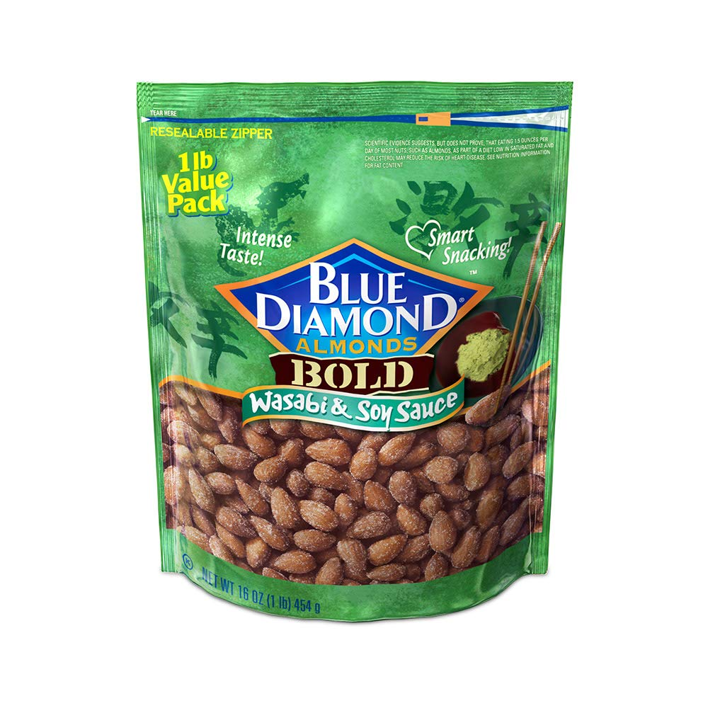 Blue Diamond Almonds, Bold Wasabi & Soy Sauce, 16 Ounce $5.99
