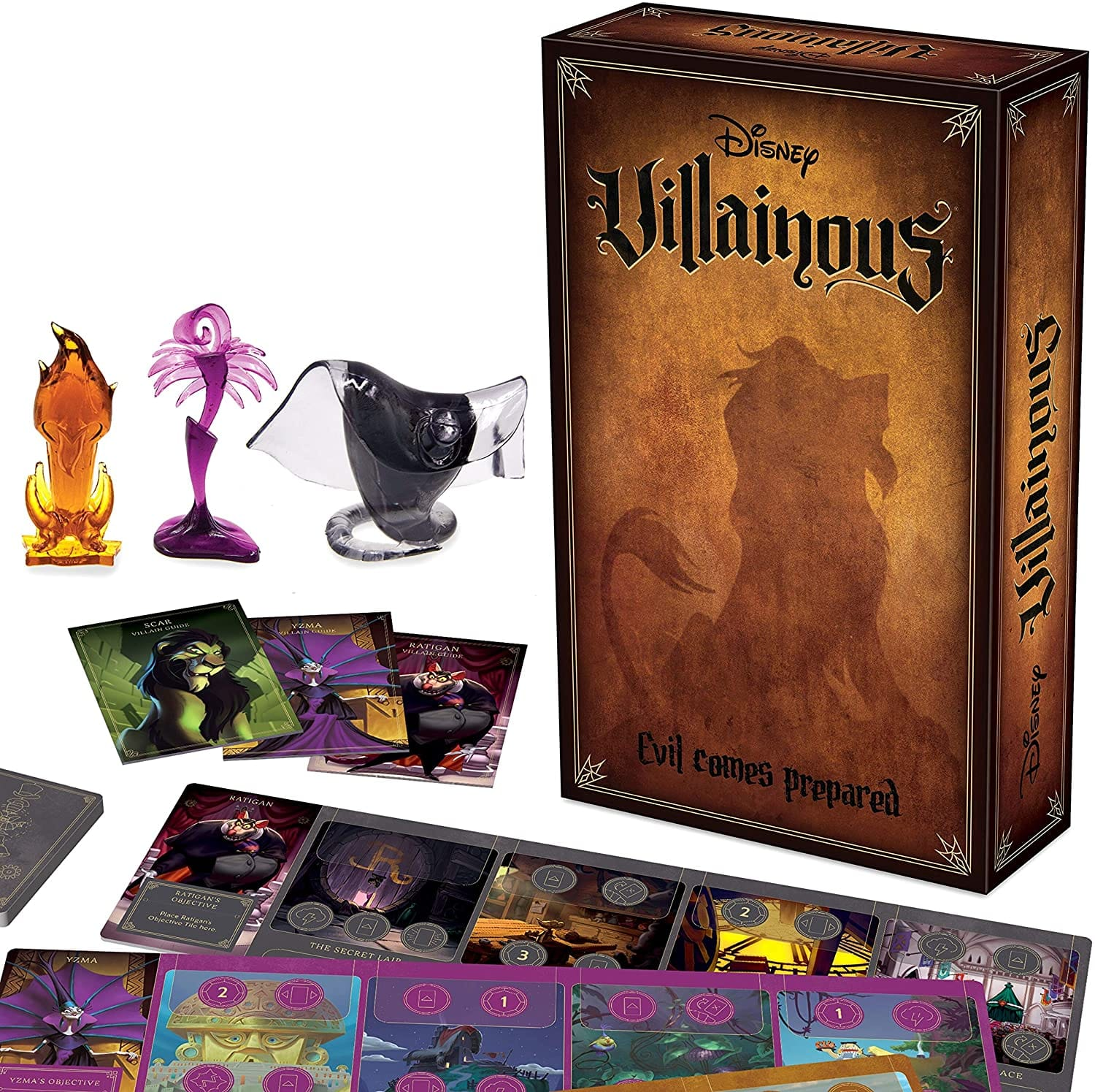 Ravensburger Disney Villainous: Evil Comes Prepared Stand-Alone and Expansion Board Game