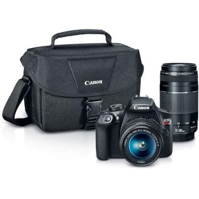 Canon EOS Rebel T6 DSLR Camera 2 Lenses Bundle + $120 Kohls Cash $399