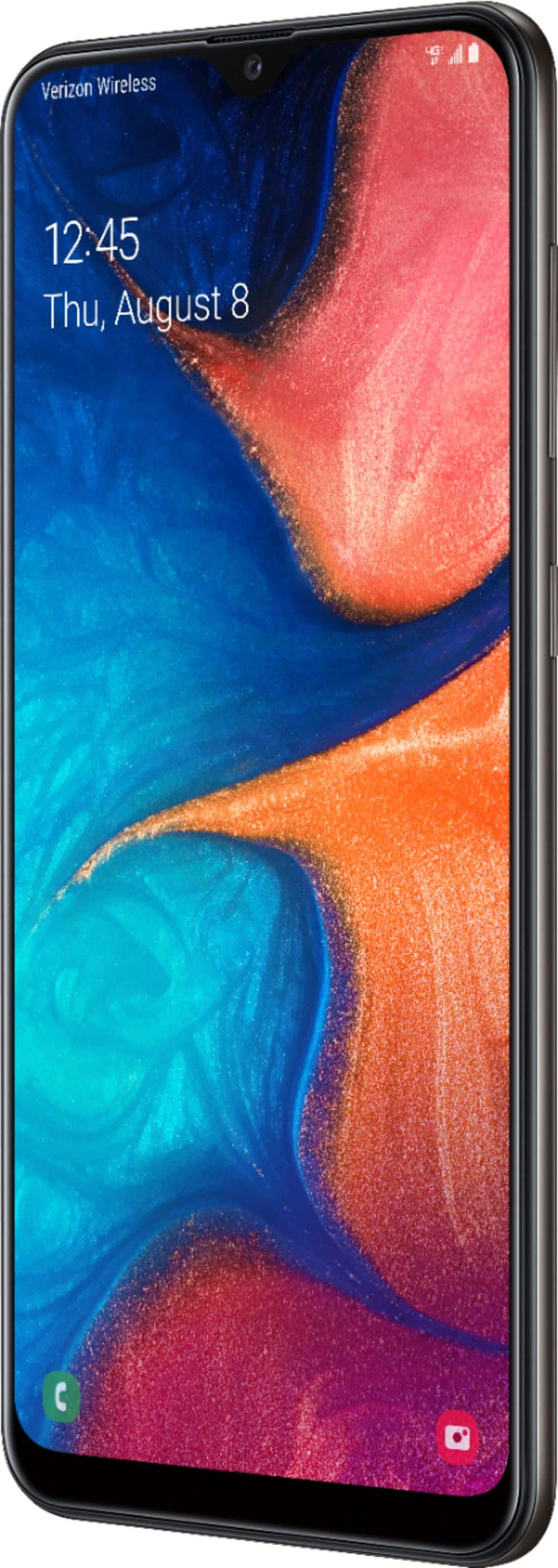 Samsung - Galaxy A20 with 32GB Memory Cell Phone (Unlocked) - Black - With Sprint activation - $99