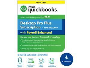 Quickbooks Desktop Pro Plus with Enhanced Payroll $250