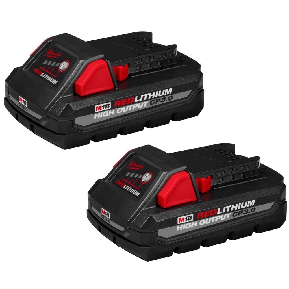 2 pack of Milwaukee 3.0 High Output batteries Model # 48-11-1837 for $99 + Tax (YMMV) - Home Depot $105.56