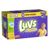 Target Deal: Luvs Diapers, 4 Value Packs. Size 3= $0.10/diaper ($0.095/ w REDcard), after $20 Target GC BM (Size 4& 5 avail.)